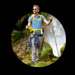 A man hiking in beautiful nature