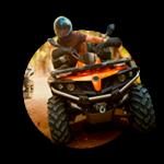 A man riding a quad