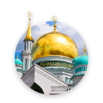 A mosque with gilded domes