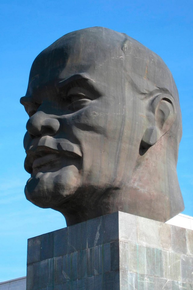 A giant (the biggest in the world) head of Lenin