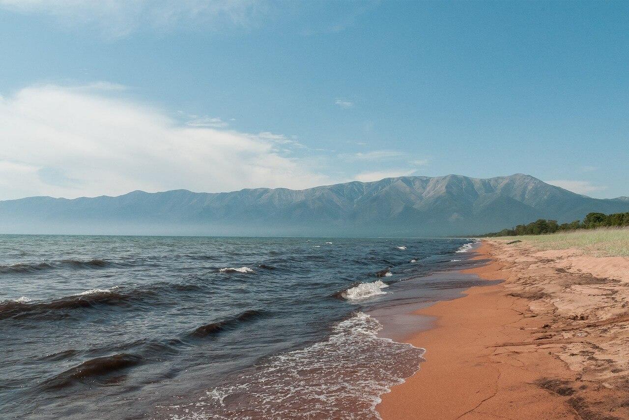 A shore of a lake