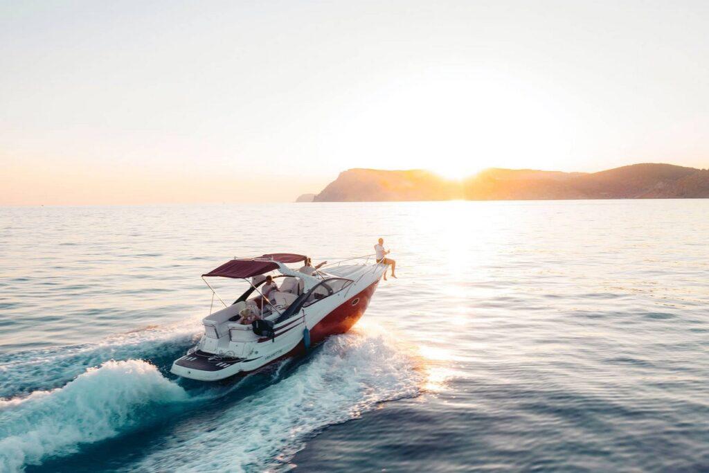 A speedboat on sea