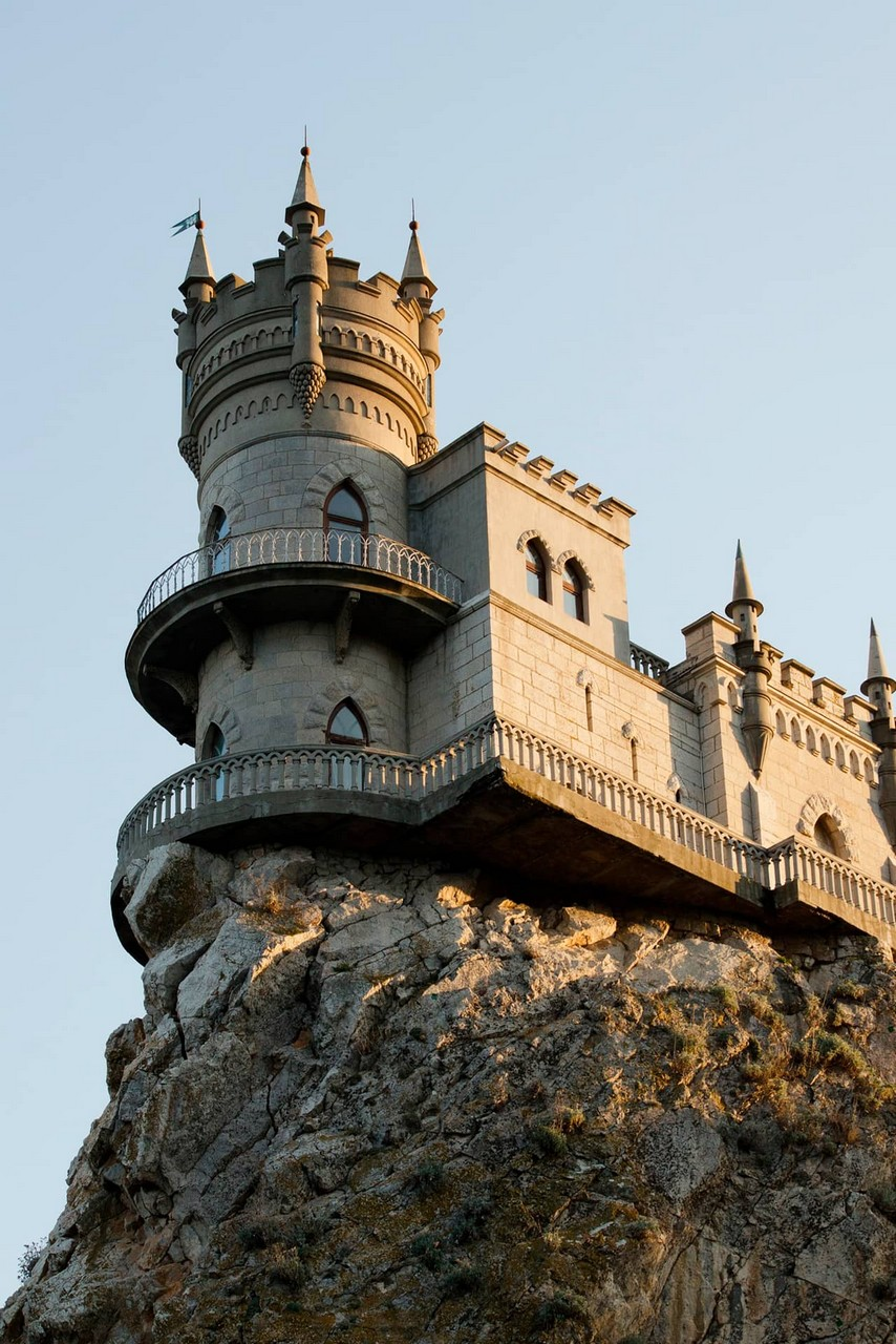 A castle on the top of a cliff